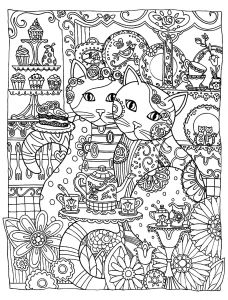 Lemonade Stand Coloring Pages - Free Coloring Page Coloring Adult Two Cute Cats Two Loving Cats to Print & Color for Free Animals then Go to Page 4 4h