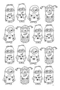 Lemonade Stand Coloring Pages - Free Coloring Page Coloring Numerous Minions Coloring Page with Minions 17a