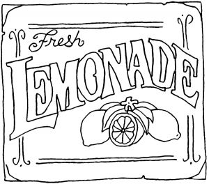 Lemonade Stand Coloring Pages - I Love Her Digis This One is Free Lemonade Stand Sign Dinner theatre 5g