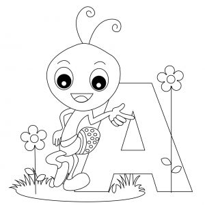 Letter A Coloring Pages for toddlers - Free Printable Alphabet Coloring Pages for Kids Best 2k