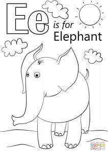 Letter A Coloring Pages for toddlers - Huge Gift Letter I Coloring Sheet E is for Elephant Page Free Printable Pages Unique D Gallery 9l