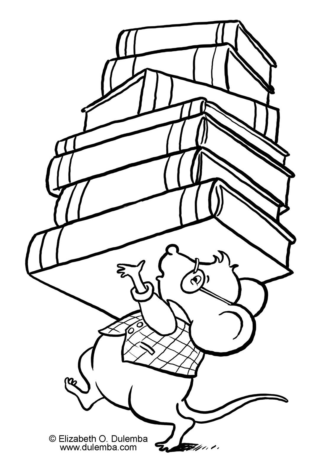 library coloring pages Collection-Library Coloring Pages For Kids 9-c