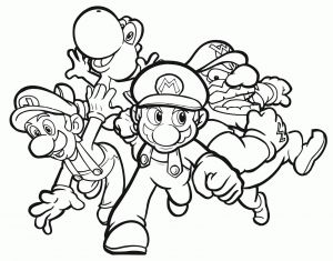 Mairo Coloring Pages - Mario Luigi Coloring Pages 6g