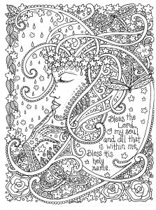 Make Your Own Coloring Pages Online for Free - Mermaid Coloring Pages for Adults Adult Coloring Prayers to Color by Deborah Muller Inspirational Messages 5r