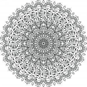 Mandala Art Coloring Pages - Free Clipart A Black and White Adult Coloring Page Floral Mandala 15t