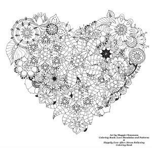 Mandala Art Coloring Pages - Heart Design Coloring Pages Best Coloring Page for Adult Od Kids Simple Floral Heart with Cool 14o