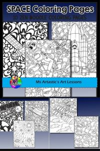 Mindful Coloring Pages - Space Coloring Pages Zen Doodles All Things Educational and Fun for Grades Pre 6th Grade 5g