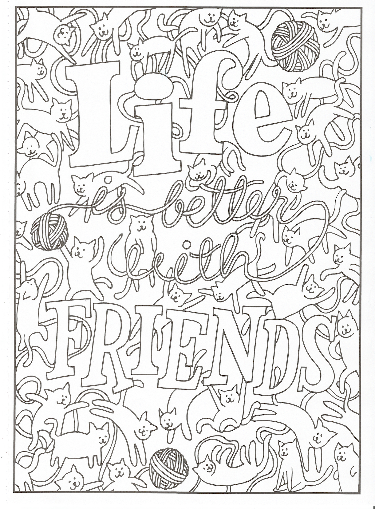 mindware coloring pages free Download-Timeless Creations Creative Quotes Coloring Page Life is Better with Friends 7-s