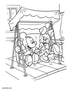 Minnie Mouse Coloring Book Pages - Mickey Christmas Coloring Pages Minnie Mouse and Mickey Coloring 2r