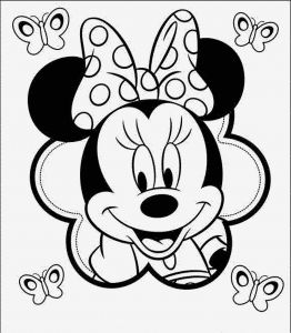 Minnie Mouse Coloring Book Pages - Minnie Mouse Coloring Pages Best Easy Coloring Pages for Kids Minnie Mouse Best Baby Minnie Mouse 9g