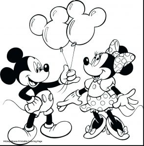 Minnie Mouse Coloring Book Pages - Mini Mouse Coloring Pages 7c