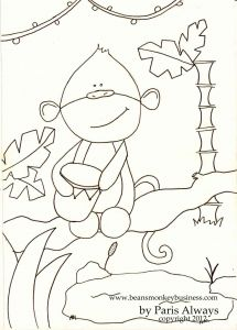 Monkey Coloring Pages for Preschoolers - Paris Did A Coloring Page for Bean and Kids to Color and Use for Our Activities This Week On Bean S Monkey Business 8r