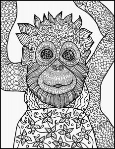 Monkey Coloring Pages for Preschoolers - Baby Monkeys Coloring Pages Animal Coloring Page Monkey Printable Adult Coloring Page 8i