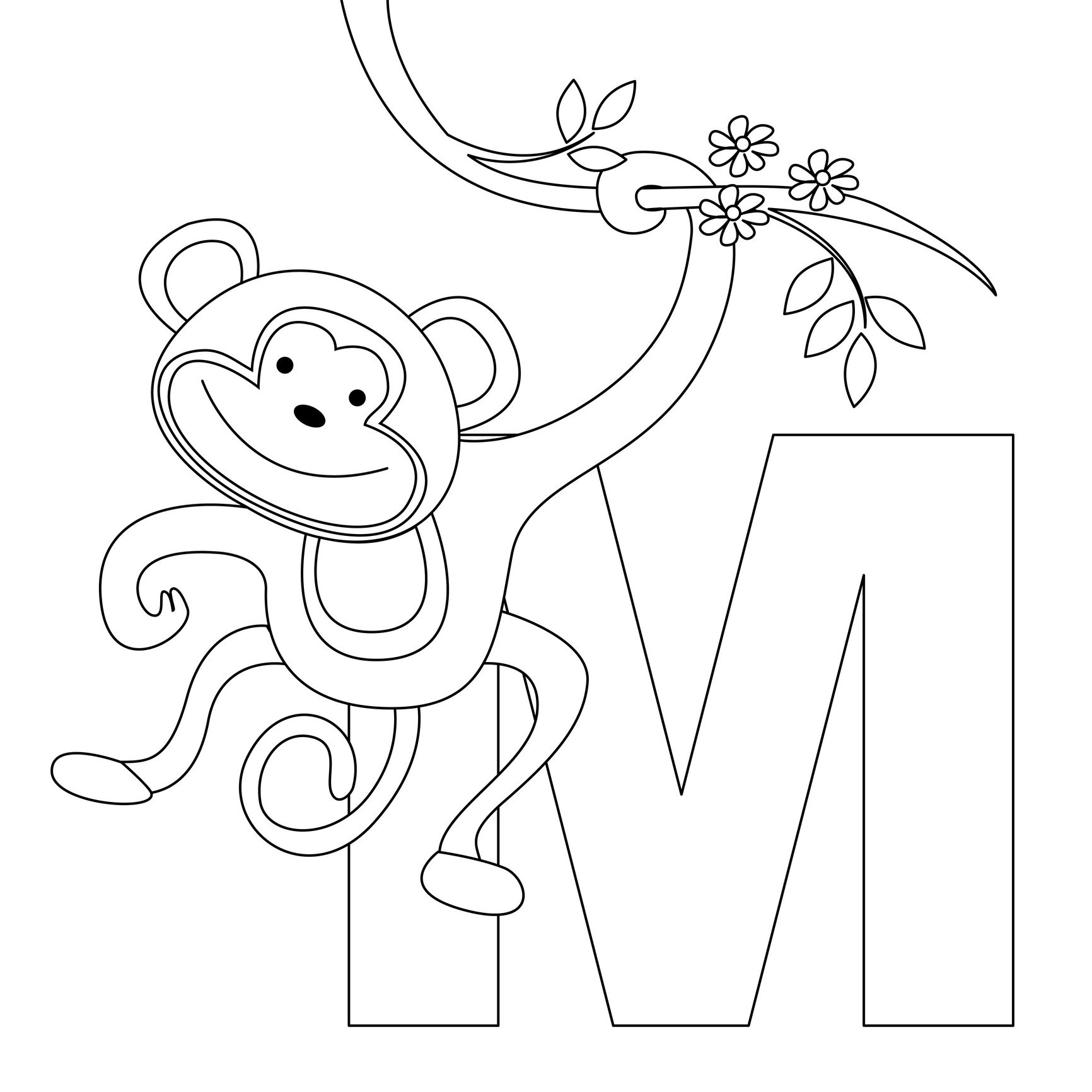 monkey coloring pages for preschoolers Collection-Coloring Pages of Cute Monkeys 4-i