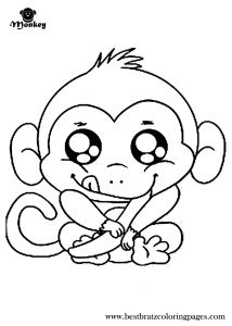 Monkey Coloring Pages for Preschoolers - Free Printable Monkey Coloring Pages for Kids 12a