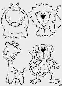 Monkey Coloring Pages for Preschoolers - Free Coloring Pages for toddlers 19d
