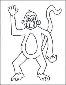 Monkey Coloring Pages for Preschoolers - Monkey Coloring Pages Printable 6p