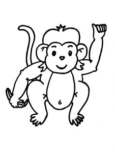 Monkey Coloring Pages for Preschoolers - Baby Monkey Coloring Pages 6f