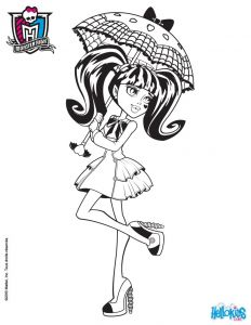 Monster High Coloring Pages - Draculaura S Wedges Draculaura S Umbrella 12r