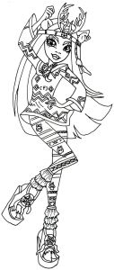 Monster High Coloring Pages - Free Printable Monster High Coloring Pages 2015 Genial Ausmalbilder Monster High Jinafire 9l