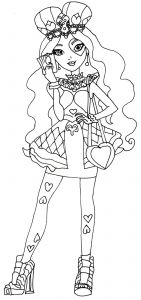 Monster High Coloring Pages - Lizzie Hearts Ever after High Coloring Page Inspirierend Ausmalbilder Monster High Rochelle 8i