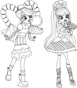 Monster High Coloring Pages - Baby Monster High Coloring Pages 5a