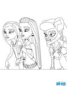 Monster High Coloring Pages - Print Out Monster High Monster High Dolls Coloring Sheet for Girls Coloring Page Girl Coloring Pages Monster 6g