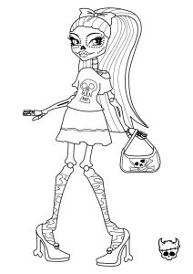 Monster High Coloring Pages that You Can Print - Monster High Skelita Calaveras Coloring Page with No Background You Have 7q