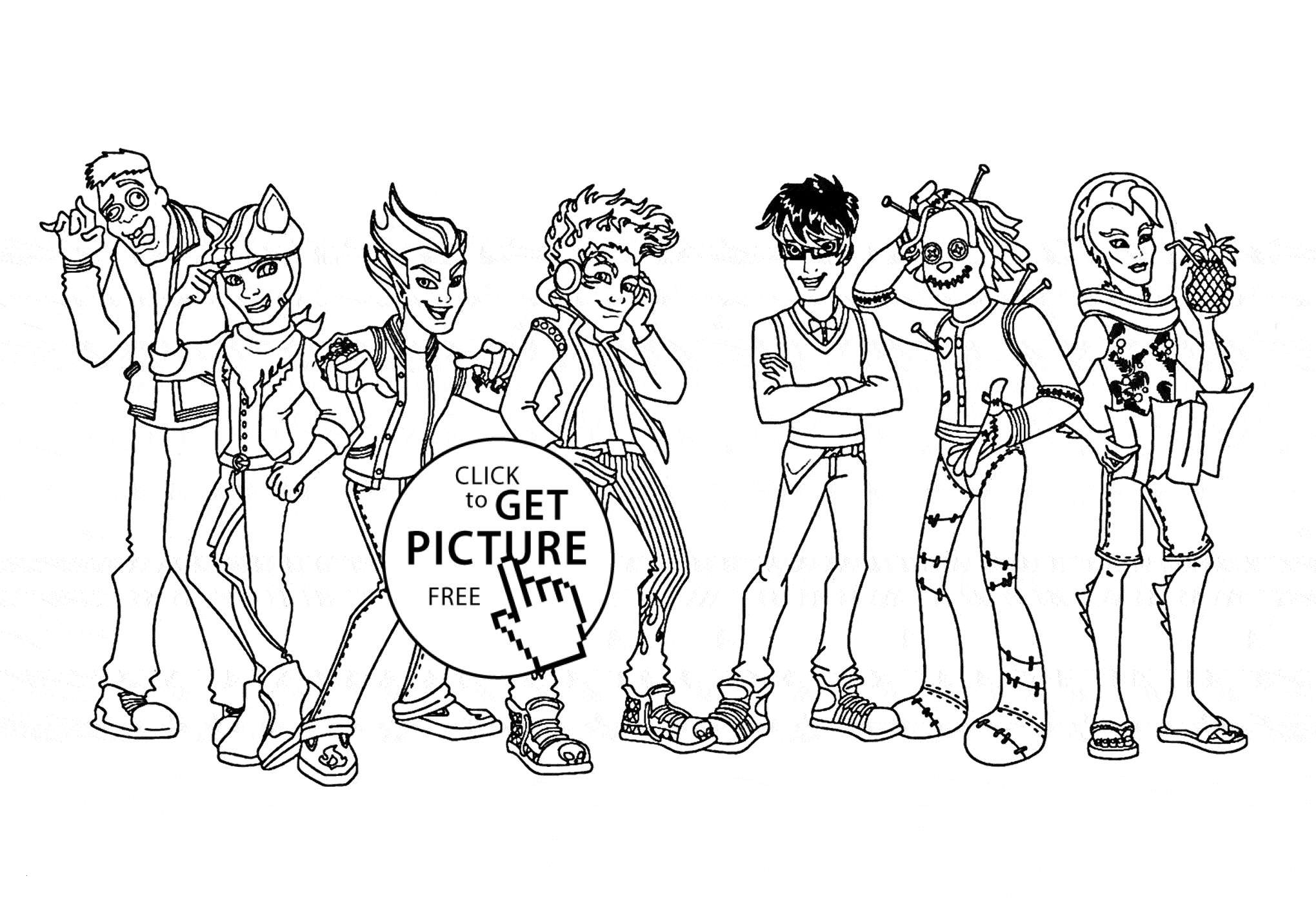 22 Monster High Coloring Pages To Print For Free Gallery Coloring