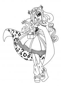 Monster High Coloring Pages to Print for Free - Monster High Coloring Pages Abbey Monster High Color Pages New Monster High Printable Coloring Pages 14h