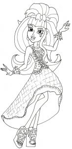 Monster High Coloring Pages to Print for Free - Free Printable Monster High Coloring Pages Draculaura 13 Wishes Einzigartig Ausmalbilder Monster High Clawdeen Wolf 12g
