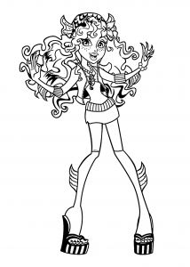 Monster High Coloring Pages to Print for Free - Lagoona Blue Monster High Coloring Pages for Kids Printable Free Elegant Monster High Ausmalbilder Draculaura 19r