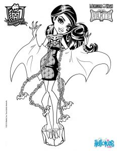 Monster High Coloring Pages to Print for Free - Monster High Coloring Pages 72 Online toy Dolls Printables for Girls 9b
