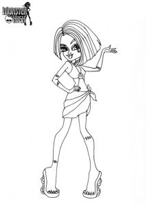 Monster High Coloring Pages to Print for Free - Printable Monster High Doll Coloring Pages 4p