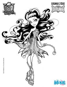 Monster High Coloring Pages to Print for Free - Vandala Doubloons Spectra Vondergeist 2 Coloring Page 4m