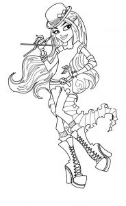 Monster High Coloring Pages to Print for Free - Monster High Coloring Page 20p
