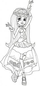 Monster High Coloring Pages to Print for Free - Free Printable Monster High Coloring Pages Frankie Stein 13 Wishes Best Monster High Ausmalbilder Frankie 13f