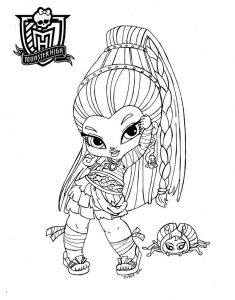 Monster High Coloring Pages to Print for Free - Baby Nefera De Nile by Jadedragonne Coloring Pages for Girls Coloring Pages to Print 14f
