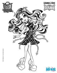 Monster High Coloring Pages to Print for Free - Spectra Vondergeist Rochelle Goyle 2 Coloring Page 14j