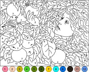 Mosaic Color by Number Coloring Pages - Afbeeldingsresultaat Voor Paint by Numbers Flower 20q