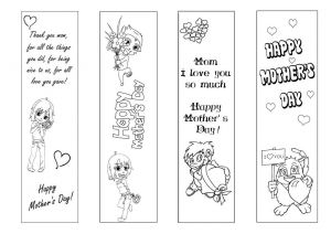 Mother Day Coloring Pages to Print - Mother S Day Bookmark Coloring Page 2ow 17i