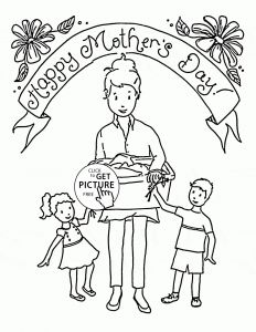Mother Day Coloring Pages to Print - Mothers Day Coloring Pages Free Category Printable Coloring Kids 4 18o