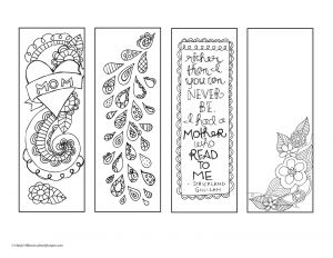 Mother Day Coloring Pages to Print - Printable Christian Bookmarks to Color 4 18a