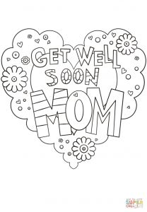 Mothers Day Coloring Book Pages - Get Well soon Mom Coloring Page 5f