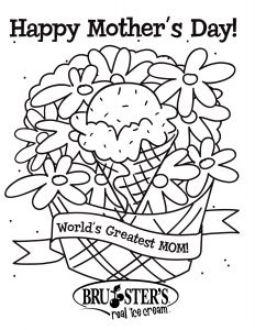 Mothers Day Free Coloring Pages - Moms Day 2a