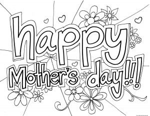Mothers Day Free Coloring Pages - Print Out Happy Mothers Day Grandma Coloring Page for Kidsfree 6p