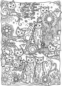 Mothers Day Free Coloring Pages - Adult Coloring Pages Music to Print This Free Coloring Page Coloring Adult Cats Cutes Free 6d