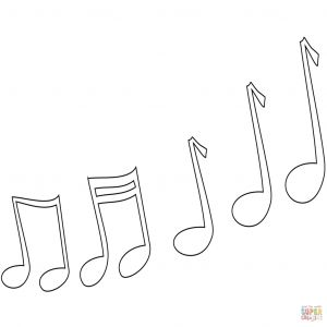 Musical Instruments Coloring Pages - Surging Music Note Coloring Page Musical Instruments Pages Free 17k