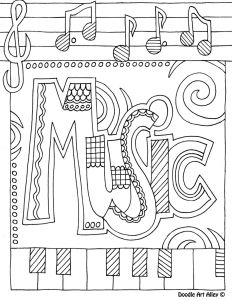 Musical Instruments Coloring Pages - Music Color Page 9l