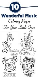 Musical Instruments Coloring Pages - 10 Wonderful Music Coloring Pages for Your Little Es 9p